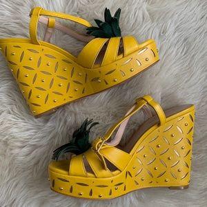 Kate Spade Pineapple Wedge - Sz 7
